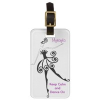 Keep Calm & Dance On Luggage Tag