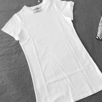 Chanel White T-shirt Dress