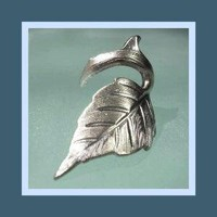 EAR CUFF Rose leaf with thorn design SILVER No by RingRingRing