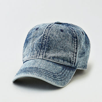 AEO Acid Wash Denim Baseball Cap, Indigo