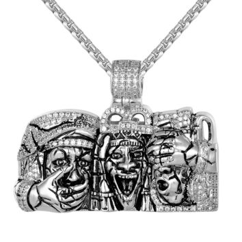 Three Wise Men Detailed Back Custom IcedOut Pendant
