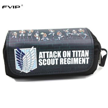 FVIP Anime Cosmetic Cases Cartoon Pencil Case Attack On Titan/Overwatch /Fate Stay Night/ Make Up BagKawaii Pokemon go  AT_89_9