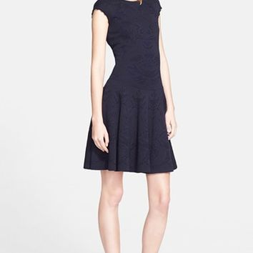 Women's Alexander McQueen Two-Tone Jacquard Dress