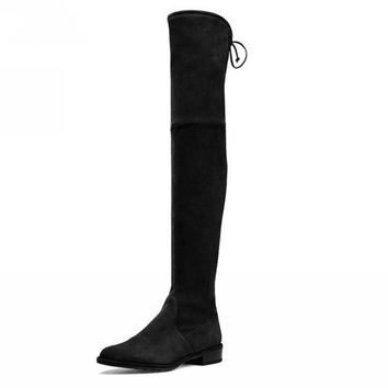 Mila Over The Knee Thigh High Suede Boots