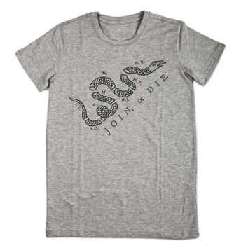 Join or Die Men's Vintage Graphic T-shirt