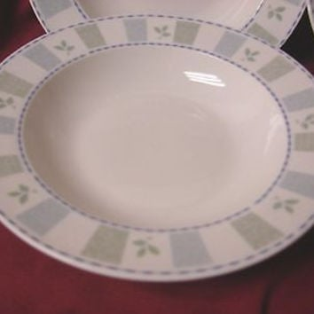 Oneida Stoneware, China Dinnerware,  katrin Set 2 Rim soup bowl