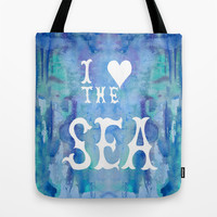 I Love the Sea 2 Tote Bag by Catherine Holcombe