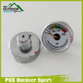 Paintball Pressure Gauge 3000psi Mini Micro High Pressure Gauge Air Manometer 1 8npt