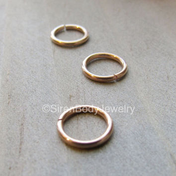 Rose gold tragus earring hoop 18g nose forward helix cartilage piercing rings tiny septum ring daith body jewelry