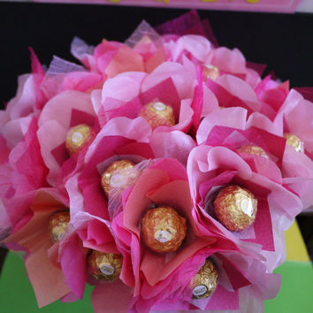 Gold & Pink Party Favor with Ferrero Rocher Chocolates