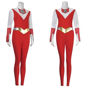 Japanese Anime Super Sentai Costumes MASKMAN RED MASK Takeru Jumpsuits Cosplay Customized High-end