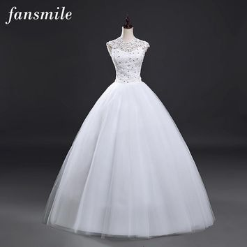 Short Sleeve Ball Wedding Dresses Lace Bridal Gown