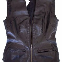 RVCA Erin Wasson X Vest/waistcoat XS Shell 100% Leather 100% Acecetate
