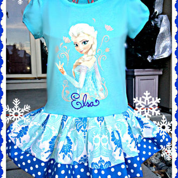 girls FROZEN Dress Queen Elsa Birthday Girl sizes 2t 4t and 5t ready to ship today