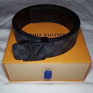 LV Black Damier Belt Size 95 I