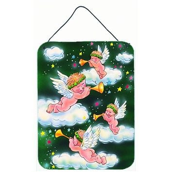 Angels on Green Wall or Door Hanging Prints AAH7253DS1216