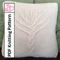 Tree of Life 16x16 pillow cover - PDF KNITTING PATTERN