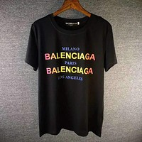 Balenciaga Fashion Round Neck Tunic Shirt Top Blouse