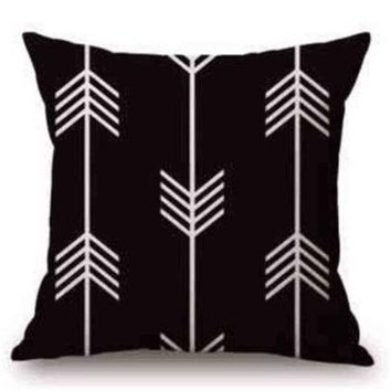B&W 18 x 18 Pillow Cover