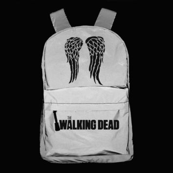 3M Reflective Backpack Unisex Fashion Backpack Laptop Backpack school bag Daily backpack The Walking Dead Daryl Dixon