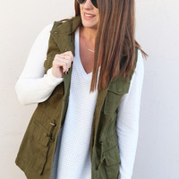 Structured Vest {Army}