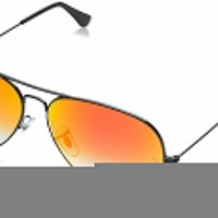 Cheap Ray-Ban RB3025 002/4W Black Frame Orange Gradient Flash 58mm Lens Sunglasses