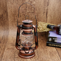25cm Antique Bronze Iron Candlestick Candle Holder Portable Lantern Lamps  Novelty Light Party Festival Decoration