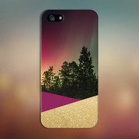 Geometric Aurora Borealis x Gold Glitter Case for iPhone 6 6 Plus iPhone 5 5s 5c iPhone 4 4s Samsung Galaxy s6 s5 s4 & s3 and Note 4 3 2
