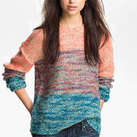 Twisted Angel Slouchy Mélange Stripe Sweater (Juniors) | Nordstrom