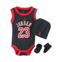 Jordan Jersey Three-Piece Newborn Boys' Gift Set, by Nike Size 0-6M (Black)