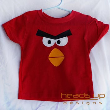 Angry Bird Shirt Baby - Halloween Costume Angry Bird - Angry Bird shirt for Kids - Angry Bird tshirts - Baby Angry Bird Onesuit -
