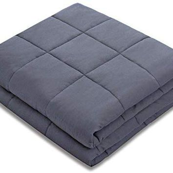 "Amy Garden Weighted Blanket (36""x48"", 5 lbs for 40-50 lbs Kids, Grey) 