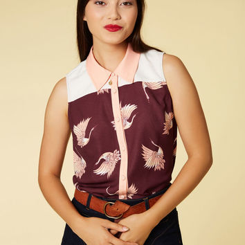Class to Cafe Sleeveless Top in Cosmos