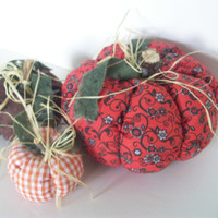 Fall FABRIC PUMPKINS, Primitive, Handmade,Home Decor, Country Decor, Cottage Chic, Earthtones