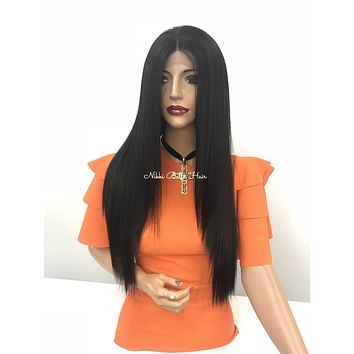 Straight hair 360 lace front wig - Purple is life