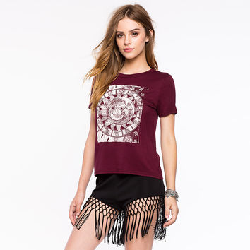 Slim Short Sleeve Casual Simple Design Totem T-shirts [9022451716]