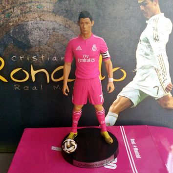 "Popular Soccer 7# Cristiano ronaldo(RM) 2.5"" Action figure Doll Toy Figure 18cm PVC puppet gld05"