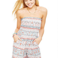 Smocked Tube Tribal Romper