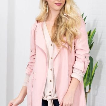 Enamored Chenille Blazer Jacket| Blush