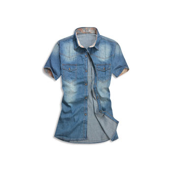 Denim Jean Button Up Shirt