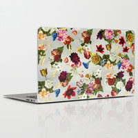 Flowery (white version) Laptop & iPad Skin by Diogo Verissimo
