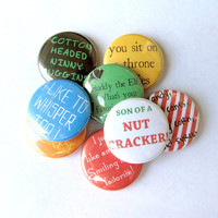 Buddy the Elf Pinback Button Set (Full Set of 8)