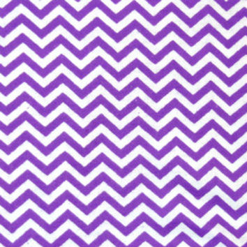 Zig Zag Purple and White Chevron Snuggle Flannel Fabric, 1 Yard, more yardage available