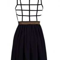 The Milan Black Evening Back Dress