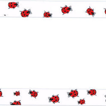 Lady Bug Plastic License Plate Frame