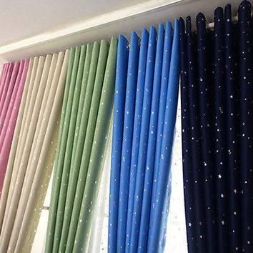 HomeTextile Bedroom Living Room Window Curtain Stars Printing Curtain Hot SaleHU