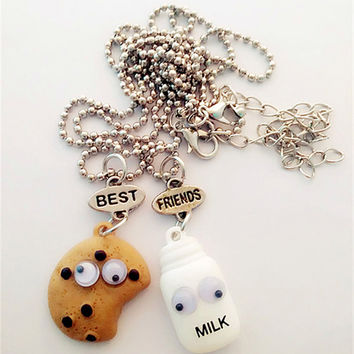 Milk and Cookies Two Piece Best Friends Necklace
