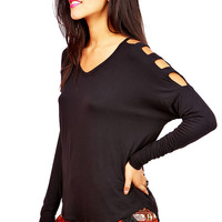 Notch It Off Top | Trendy Tops at Pink Ice