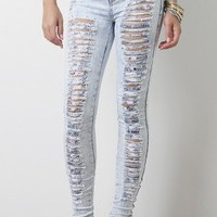 Shredded Desire High Waist Jeans