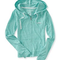 HEATHERED CORE FULL-ZIP HOODIE